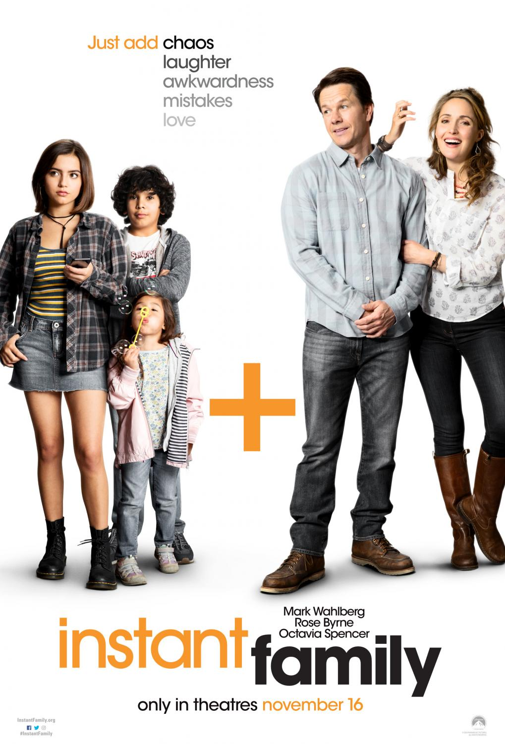 Promotional poster for the new comedy movie 'Instant Family.'