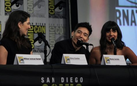 'The Good Place' cast and crew visit San Diego Comic Con for a panel.
