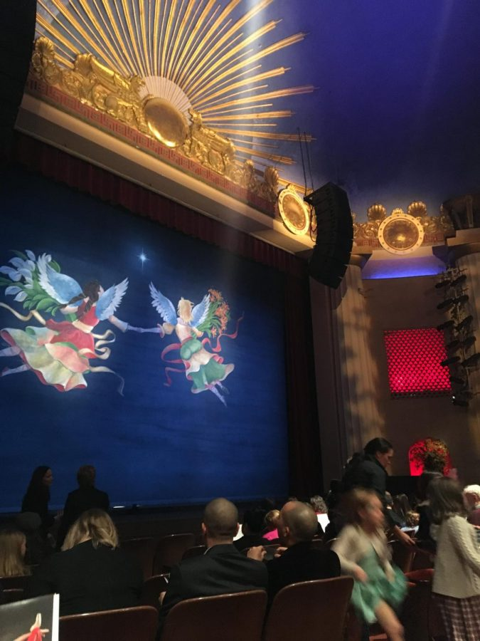 Before the ballet began, the stage sparked with a beautiful painting of angels.