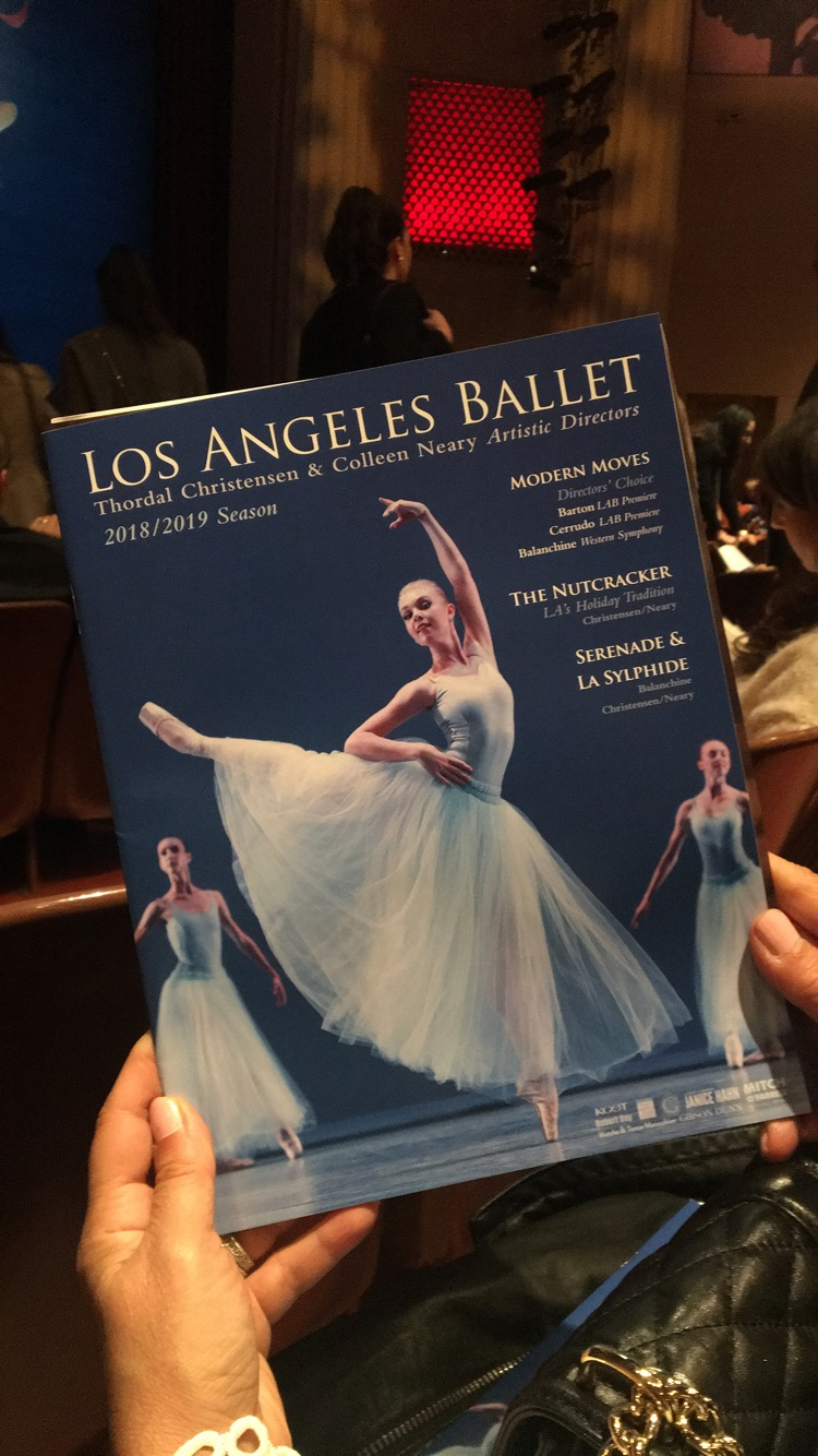 The Los Angeles ballet pamphlet indicated the ballerinas cast in the play and an exclusive look behind-the-scenes.