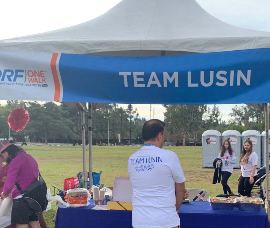 Lusin Yengibaryan's booth for the 2018 JDRF walk.