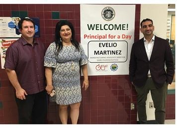 Evelio Martinez experiences being a principal for a day