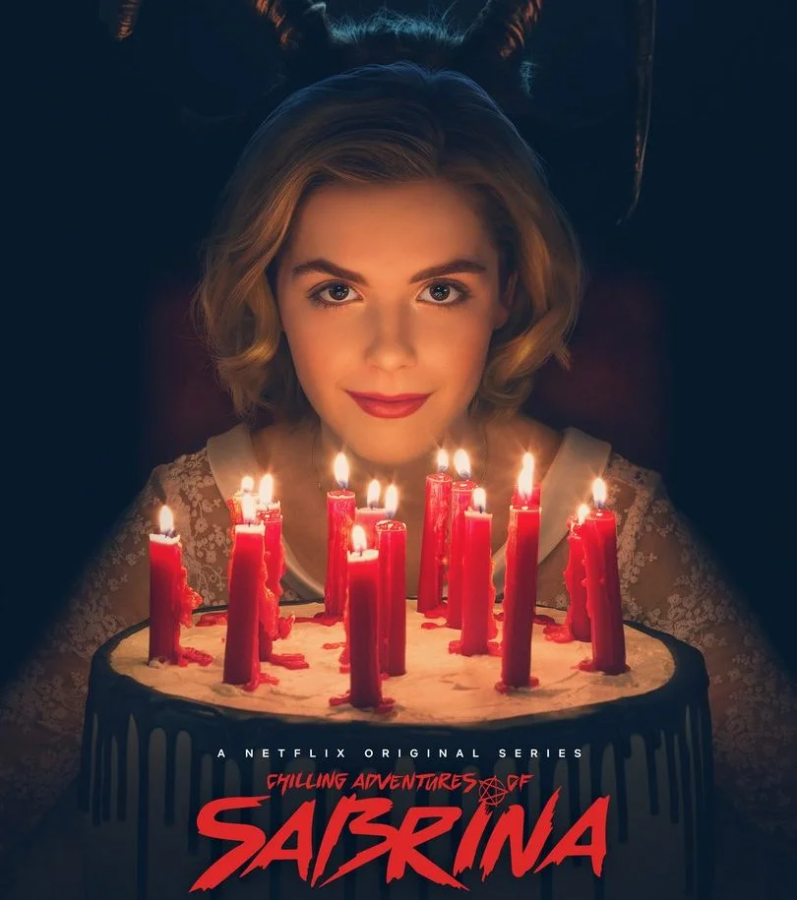 The+promotional+poster+for++%27The+Chilling+Adventures+of+Sabrina%27+featuring+Kiernan+Shipka+who+stars+as+Sabrina.