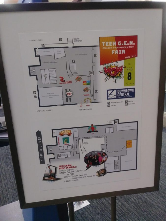 Map of the library, indicating all activities and where they were.