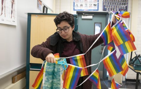 Displays of LGBTQ+ history are put up all year in the Cybrary