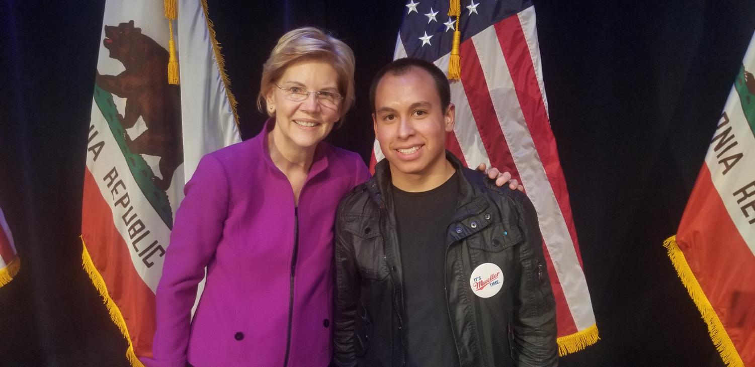 I got the chance to take a picture with Senator Warren after the event.