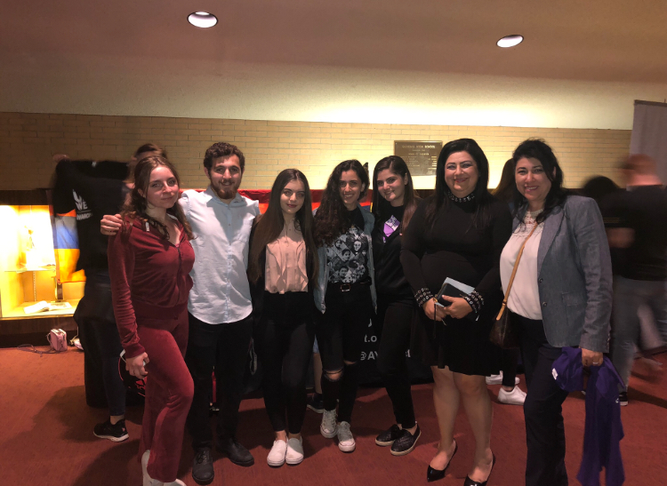 Students met in the John Wayne PAC lobby after their performances.