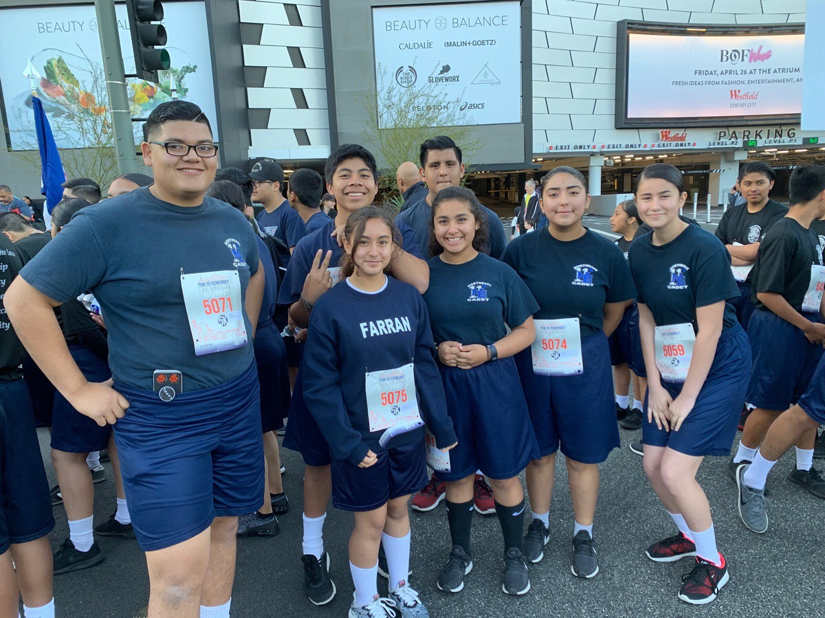 LAPD Cadet Program runners participated in the Run to Remember this year.