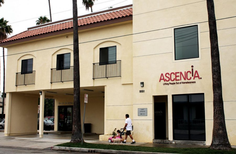 The Ascencia homeless shelter in Glendale, which offers help to homeless people.
