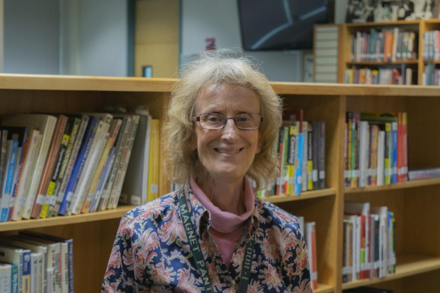 Ms.+Newcomer%2C+the+school%27s+librarian%2C+is+retiring+this+year+after+working+at+Clark+for+21+years.