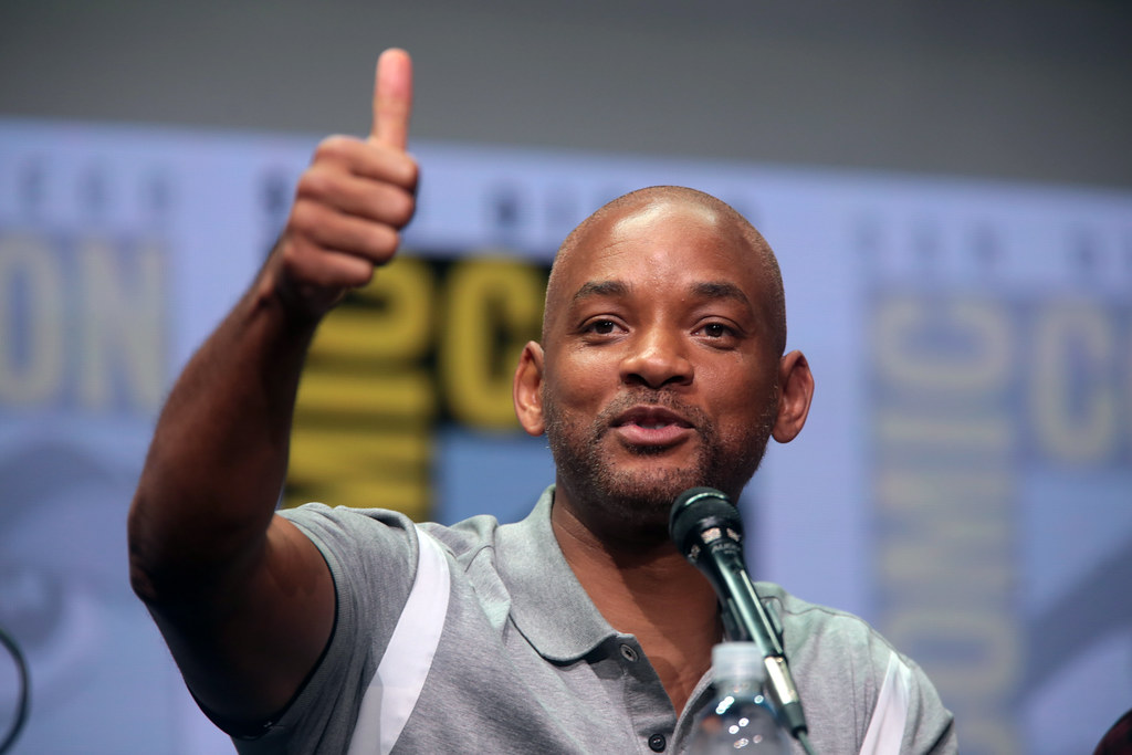 This is Will Smith who is the live action Genie.