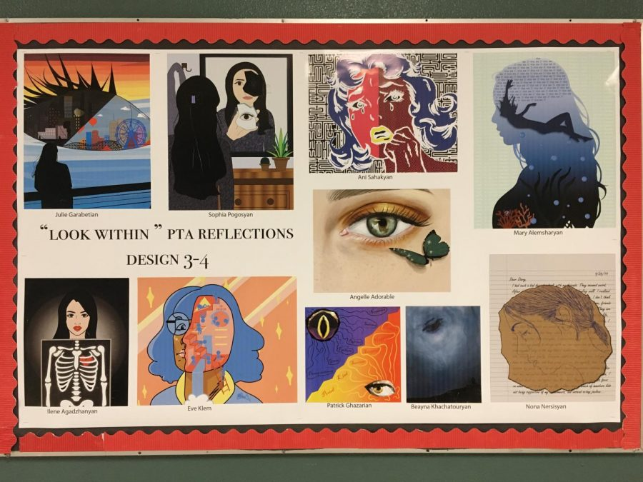 A+collage+of+entries+for+the+Reflections+program+from+Nersisyan%E2%80%99s+class.+Her+entry+can+be+seen+at+the+bottom+right.