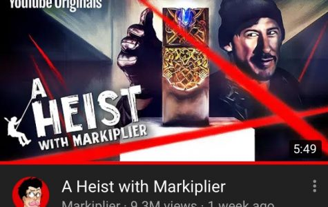 The thumbnail for A Heist With Markiplier. The video has already gained over 8 million views a week after its release.