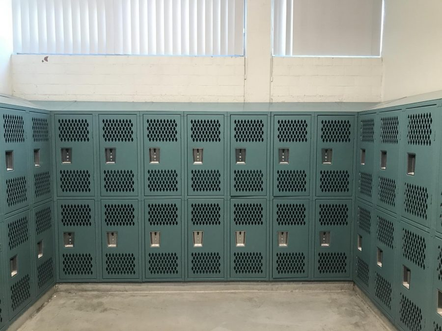 These are the PE lockers in the girl's locker room.