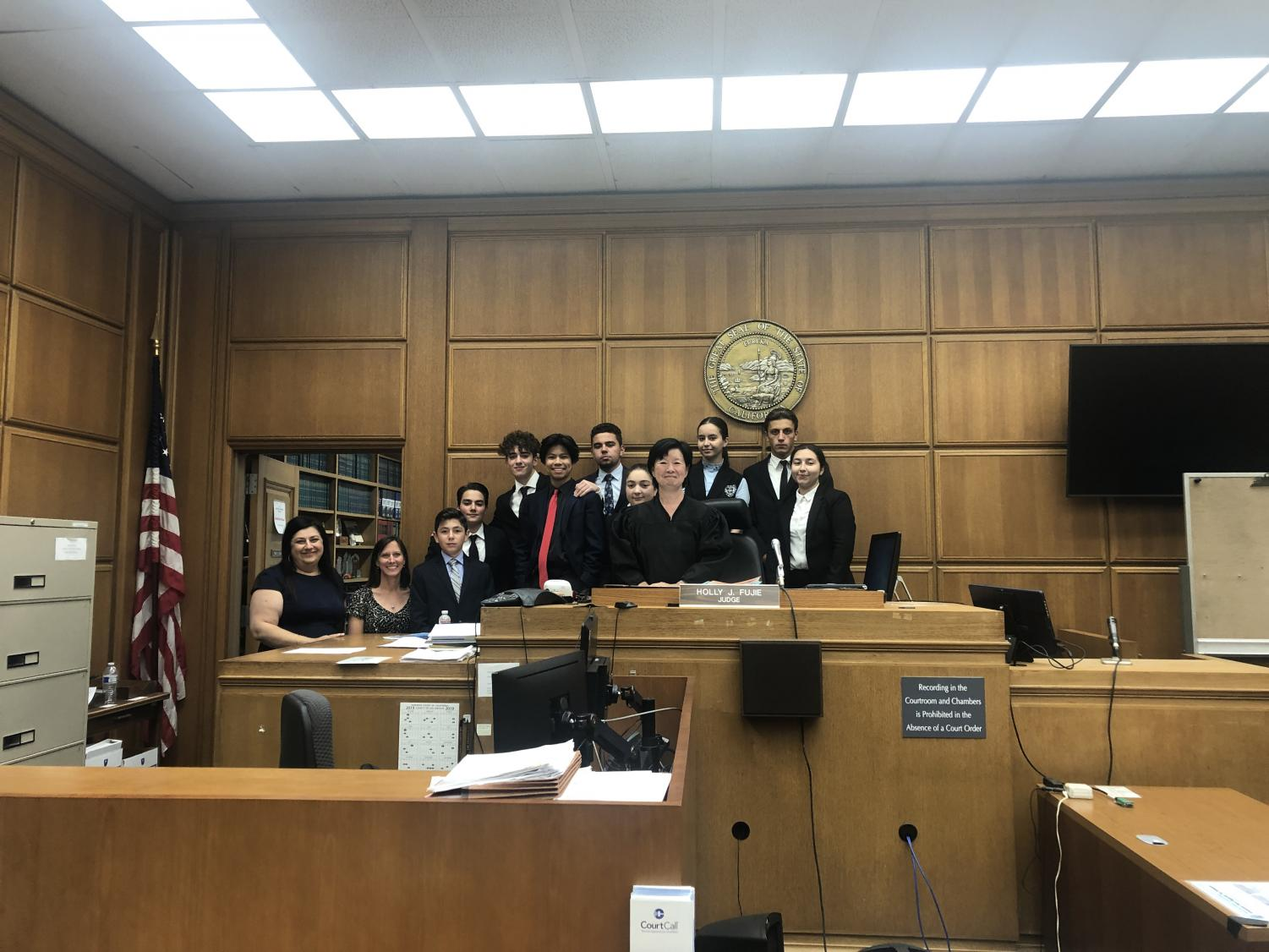 Clark Magnet High School's Mock Trial Team competed at Stanley Mosk Courthouse