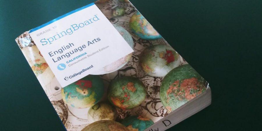 The SpringBoard ELA workbook used at Clark.