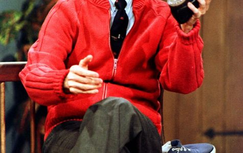 "Mr. Rogers returns to the big screen in ""A Beautiful Day in the Neighborhood"" except he's played by Tom Hanks (not shown)."