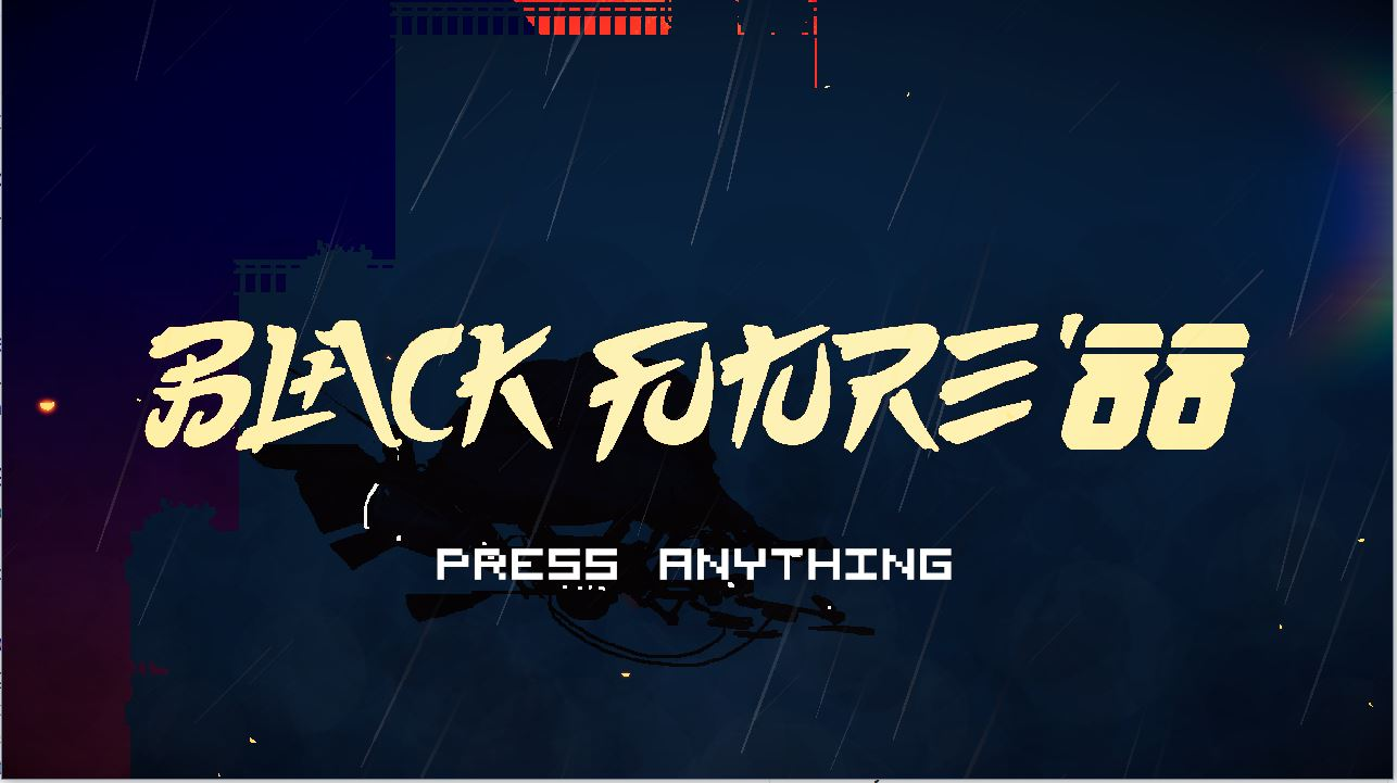 Black Future '88 is a game all about dashing and slashing through enemies, all neatly styled in a synthpunk style.