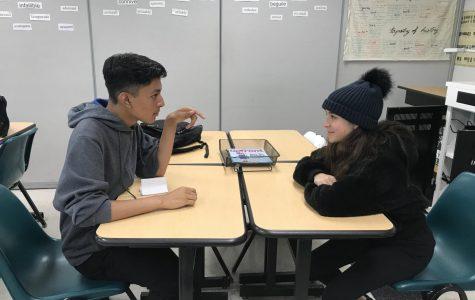 Ernesto Aguilar and Vanya Arakelian debate angrily over a simple topic.
