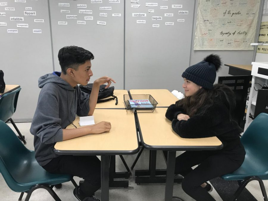 Ernesto Aguilar and Vanya Arakelian debate angrily over a simple topic.
