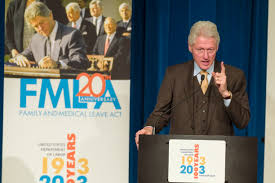 President Clinton celebrates the 20th anniversary of the Family and Medical Leave Act.