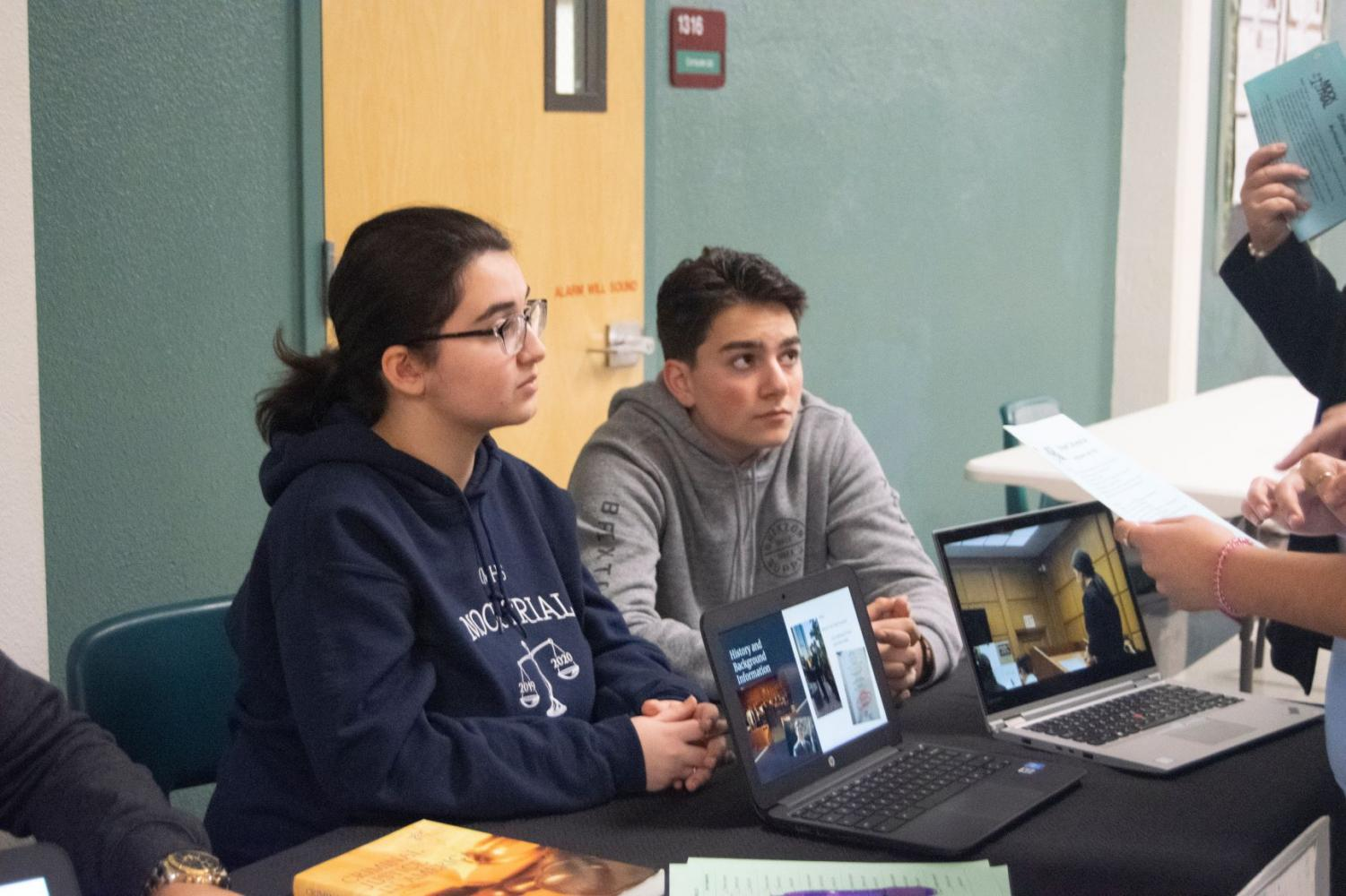 Students represented Clark for everyone as they spoke to curious parents and professionally explained classes.