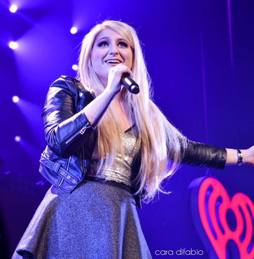 Meghan Trainor, who recently released her new album 'Treat Myself,' performs in front of her many fans.
