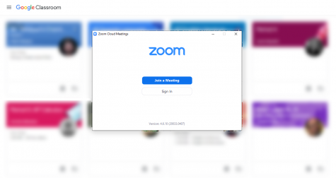 The vast majority of students attend to their scholarly duties through Google Classroom and Zoom.