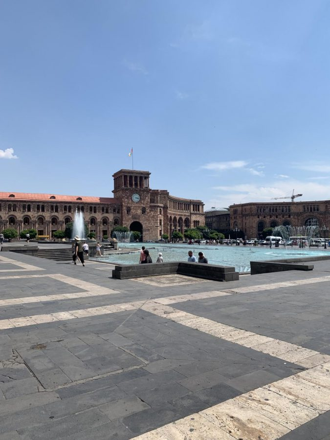 Hrabarag is a very popular tourist attraction in the epicenter of Yerevan Armenia.
