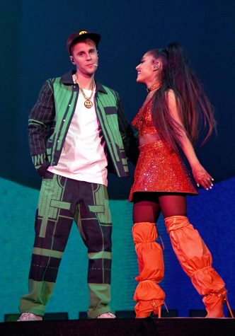 "After years of knowing each other, Ariana Grande and Justin Bieber finally collaborate and bring their new single, ""Stuck with U,"" to life."