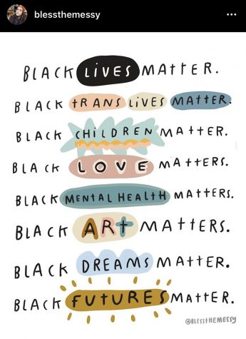 Many Instagram users create graphics to support and spread awareness on the Black Lives Matter movement. Others can repost graphics to spread the message.