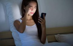 Due to COVID-19, many teenagers have been staying up really late at night on their electronic devices.
