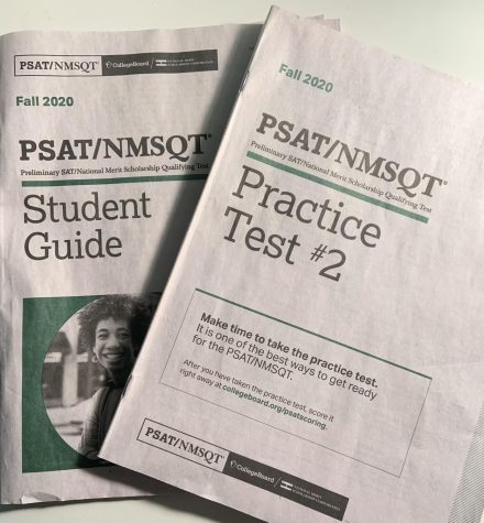 Students take PSAT on a virtually empty campus