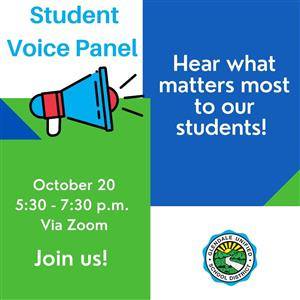 The third GUSD student voice panel was held Oct. 20 through Zoom, giving students the opportunity to speak for their school peers.