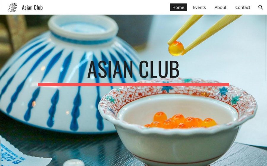 The website hyperlinked many different clubs like Asian Club to help bring new members during these times.