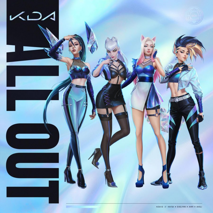 K/DA's new EP, All Out, debuted on Nov. 11 with five tracks featuring a variety of artists, including (G)I-DLE members Cho Mi-yeon and Jeon So-yeon, as well as LExie Liu as a guest vocalist.