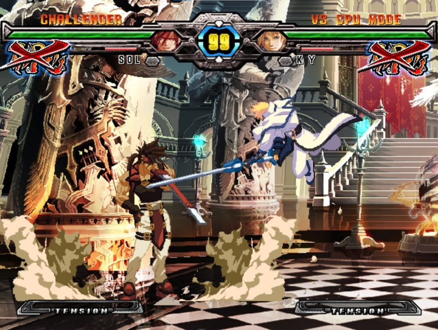 A special cutscene that occurs before the round starts in Guilty Gear XX Accent Core Plus R.