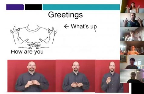 Unit 1 in remote ASL 101 classroom included how to sign the basics, such as greetings, colors and clothing.