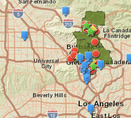 This map depicts all the food banks and shelters within the borders of the GUSD.