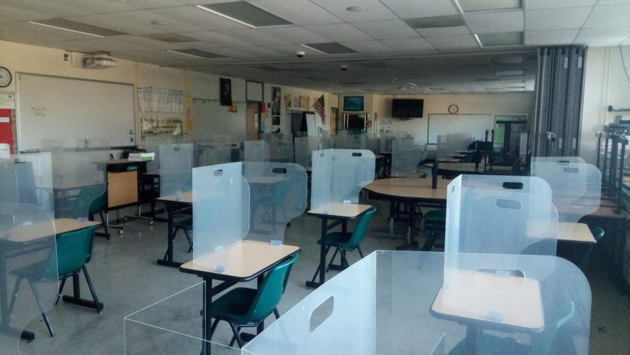 Clark classrooms prepare for the arrival of students who are returning to a hybrid learning program.