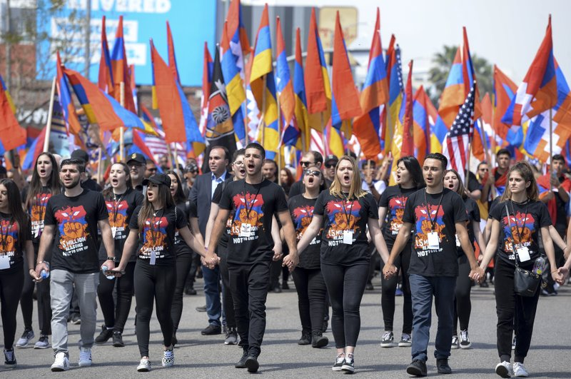 Armenians marched in Hollywood on April 24th in order to recognize the genocide.