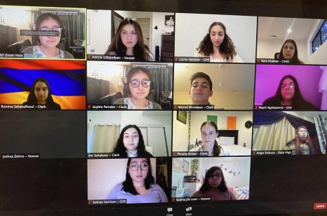 Students from different GUSD high schools gathered on Zoom.