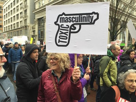 Citizens in Portland, Oregon protest against toxic masculinity due to the negative effects it can have on society.