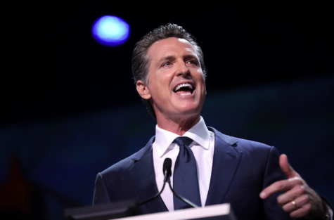 Governor Newsom speaks at the 2019 California Democratic Party State Convention in San Francisco. Newsom has been Governor of California since January, 2019.
