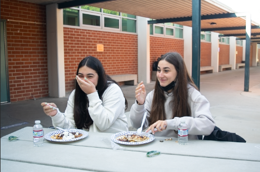 As they ate their pancakes Stella Akopyan and Paula Gharibi felt welcomed to the Clark community. We really enjoyed ourselves and loved that ASB could plan an event like this for us, Akopyan added.