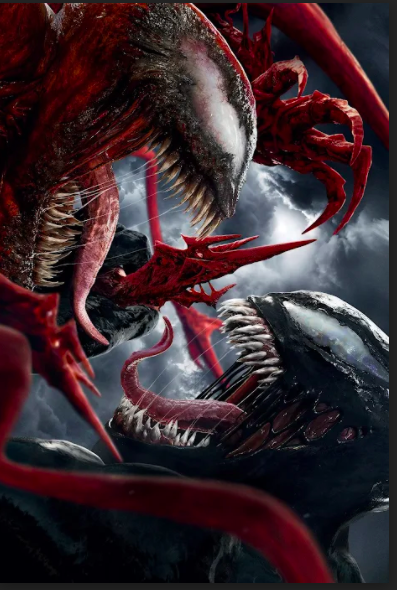 Venom comes face-to-face with Carnage, the villain of the movie.